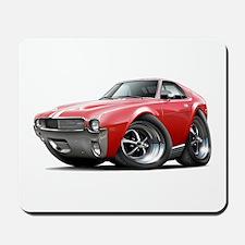 1968-69 AMX Red-White Car Mousepad