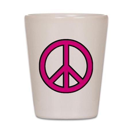 pink peace Shot Glass