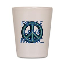 Peace Love Music Shot Glass