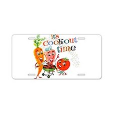 Cook-Out Time Aluminum License Plate