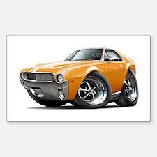 1968-69 AMX Orange-White Car Sticker (Rectangle)