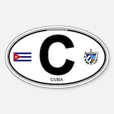 Cuba Intl Oval Bumper Stickers