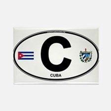 Cuba Intl Oval Rectangle Magnet