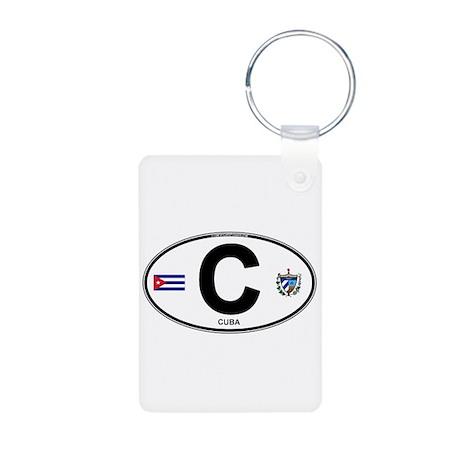 Cuba Intl Oval Aluminum Photo Keychain