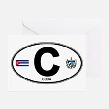 Cuba Intl Oval Greeting Card