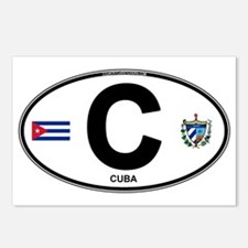 Cuba Intl Oval Postcards (Package of 8)
