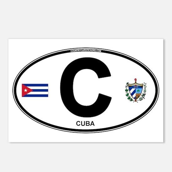 Cuba Intl Oval Postcards (Package of 8)