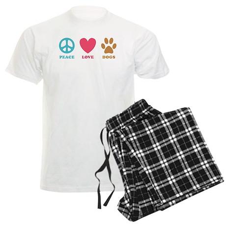 Peace Love Dogs Men's Light Pajamas