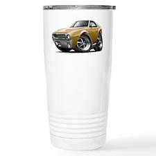 1968-69 AMX Gold Car Travel Coffee Mug