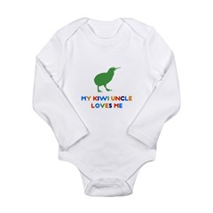 My Kiwi Uncle Loves Me Long Sleeve Infant Bodysuit