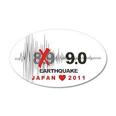 Japan 9.0 Earthquake 22x14 Oval Wall Peel