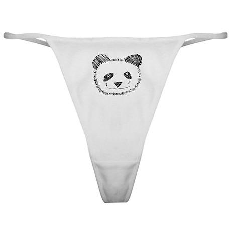 I Love Pandas Classic Thong