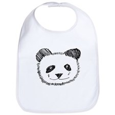 I Love Pandas Bib