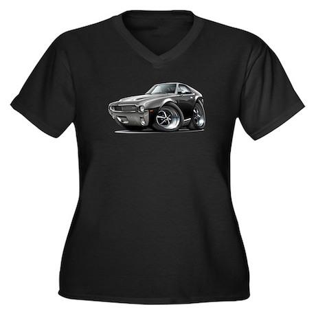 1968-69 AMX Black Car Women's Plus Size V-Neck Dar
