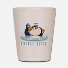 Chill Out Penguin Shot Glass