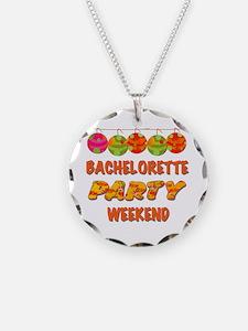 Tropical Bachelorette Weeken Necklace Circle Charm