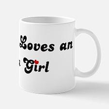 Loves Angola Girl Mug