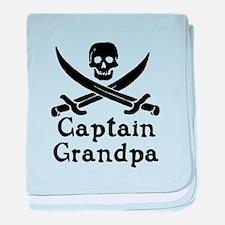 Captain Grandpa baby blanket