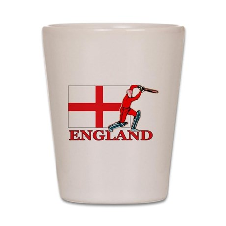 English Cricket Player Shot Glass