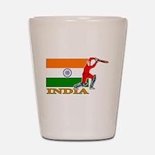 India Cricket Player Shot Glass