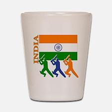 India Cricket Shot Glass