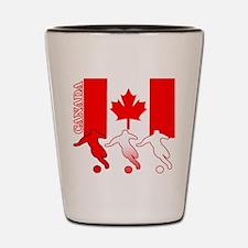 Canada Soccer Shot Glass