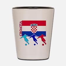 Croatia Soccer Shot Glass