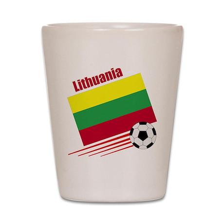 Lithuania Soccer Team Shot Glass