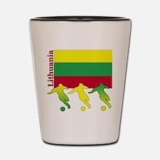 Lithuania Soccer Shot Glass