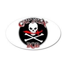 Captain Bob 20x12 Oval Wall Decal