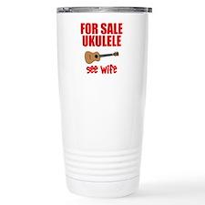 funny ukulele Travel Mug