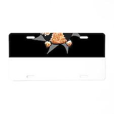 Apricot Poodle Burst Aluminum License Plate