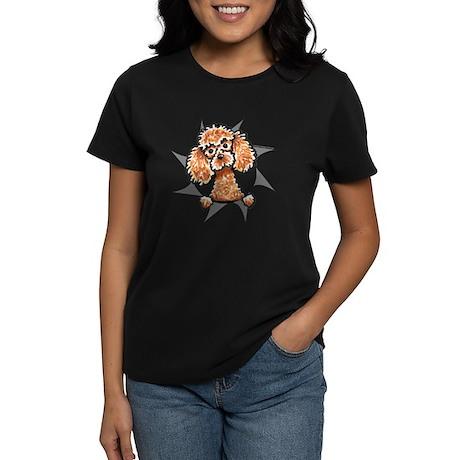 Apricot Poodle Burst Women's Dark T-Shirt