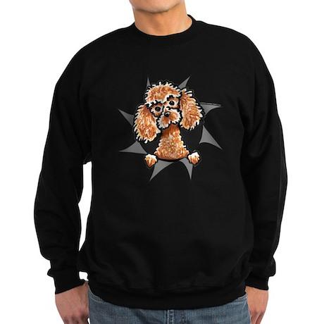 Apricot Poodle Burst Sweatshirt (dark)