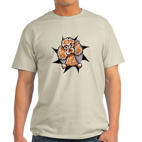 Apricot Poodle Burst Light T-Shirt