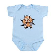 Apricot Poodle Burst Infant Bodysuit