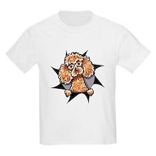 Apricot Poodle Burst T-Shirt