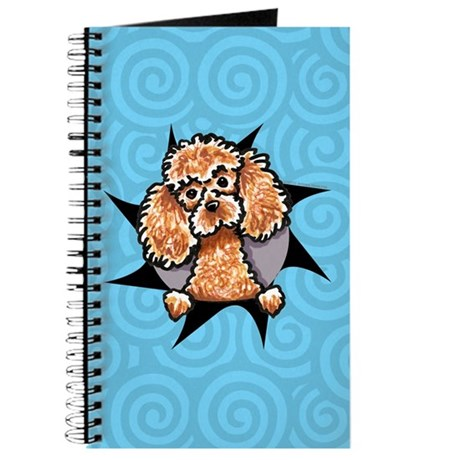 Apricot Poodle Burst Journal