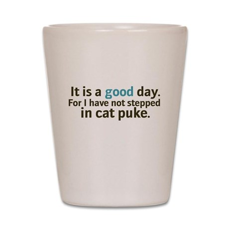 Cat Puke Shot Glass