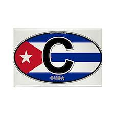 Cuba Intl Oval (colors) Rectangle Magnet
