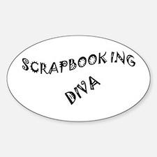 SCRAPBOOKING DIVA Sticker (Oval)