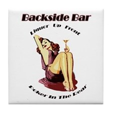 """Backside Bar"" Tile Coaster"