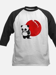 Sad Panda Bear Kids Baseball Jersey