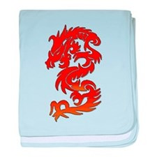 Chinese Dragon baby blanket