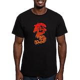 Asian dragon art bidge Fitted T-shirts (Dark)