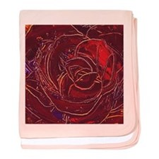 """""""Red Rose"""" painting baby blanket"""