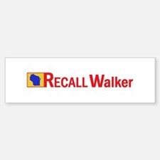 RECALL Gov. Walker Bumper Bumper Sticker