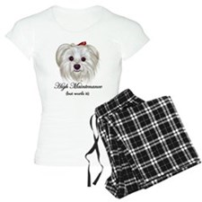 Captioned Maltese pajamas