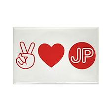 Peace Love Japan Rectangle Magnet