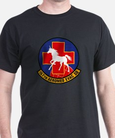 167th Aeromedical Black T-Shirt